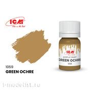 C1059 ICM Краска для творчества, 12 мл, цвет Охра зеленая (Green Ochre)