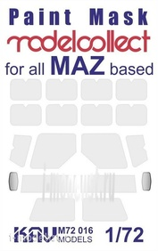 M72 016 KAV models 1/72 Окрасочная маска на остекление М.А.З-73** (Modelcollect)