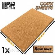 1008 Green Stuff World Пробковый лист 5 мм толщина, 198х296 мм