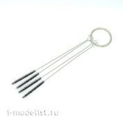 1620 JAS Brush for cleaning airbrush channels (spray gun), 4 pcs.