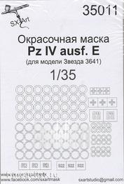 SX35011 SX-Art 1/35 Painting mask Pz IV ausf.E (for model Zvezda 3641)