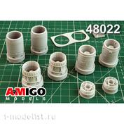 AMG48022 Amigo Models 1/48 Суххой-24М Реактивное сопло двигателя АЛ-21Ф-3
