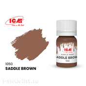 C1050 ICM Paint for creativity, 12 ml, color Brown saddle (Saddle Brown)
