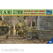 RV35019 Riich 1/35 Американская 57-мм противотанковая пушка M1 на лафете M1A3 (ранняя версия)