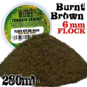 10311 Green Stuff World Жжёная коричневая трава 6 мм, 280 мл / Static Grass Flock 6 mm - BURNT Brown - 280 ml