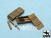 T48014 Black dog 1/48 King Tiger ammo boxes 10 boxes + ammo