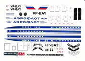 767300-08 PasDecals 1/144 Decal for Boeing 767-300 Aeroflot Russian international Airlines