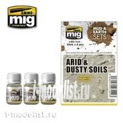 AMIG7440 Ammo Mig ARID & DUSTY SOILS (MUD & EARTH SETS)