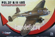 481310 Mirage Hobby 1/48 PZL.37 B/II LOS BOMBER AIRCRAFT, SECOND PRODUCTION BATCH