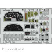 491117 Eduard photo etched parts for 1/48 B-25D