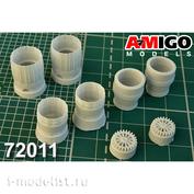AMG72011 Amigo Models 1/72 MiGG-29 engine nozzle RD-33