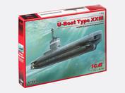 S. 004 ICM 1/144 German submarine, type XXIII