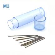 42558 JAS Mini drill HSS 6542 (M2) titanium coated d 0.45 mm 10 pcs.