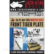 ZA-3502 1/35 Zack Atak Лобовая бронеплита танка Тигр, 505 батальон, зима 1943 г.