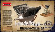 622 Roden 1/32 Двигатель Hispano Suiza V8A