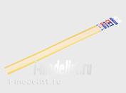 70174 Tamiya Пластиковые стержни (круглые белые матовые) диаметром 1мм длиной 40см (10шт)
