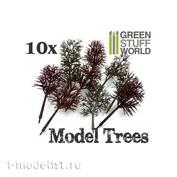9092 Green Stuff World Model Tree Trunks, 10 pcs / 10x Model Tree Trunks