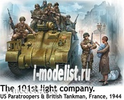 35164 MasterBox 1/35 101st light company. American paratroopers and British tankman, France, 1944
