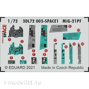 3DL72003 Eduard 1/72 3D Декали для МиGG-21ПФ SPACE