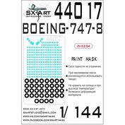 44017 SX-Art 1/144 Окрасочная маска Boeing 747-8 (Звезда)