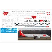 321-16 PasDecals 1/144 Декаль с использованием белой печати на A321 (Звезда), Red Wings