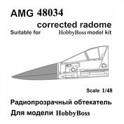 AMG48034 Amigo Models 1/48 Суххой-34 Радиопрозрачный обтекатель