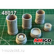 AMG48017 Amigo Models 1/48 Суххой-7/ Суххой7Б, Суххой-17 реактивное сопло двигателя АЛ-7Ф