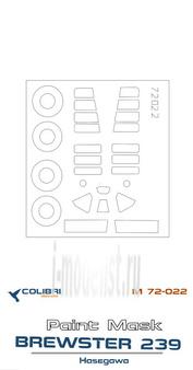 M72022 ColibriDecals 1/72 Маска для BW-239 Finnish (Hasegava)