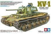 35372 Tamiya 1/35 Советский тяжелый танк КВ-1 1941 г, ранняя версия с фигурой танкиста