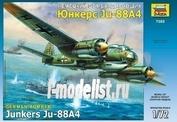 7282 Звезда 1/72 Самолет Юнкерс Junkers 88А4
