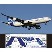 343-001 Ascensio 1/144 Декаль на самолет Arbus A340-300 (Arbus Industri (домашние цвета))