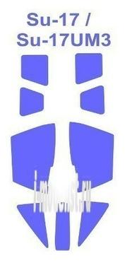 72064 KV Models 1/72 Набор окрасочных масок для остекления модели Суххой-17 УМЗ