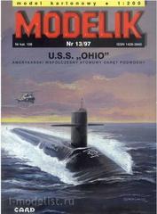 Modelik 13/1997 Бумажная модель USS Ohio