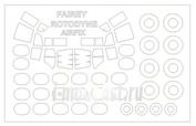 72702 KV Models 1/72 Fairey Rotodyne + маски на диски и колеса