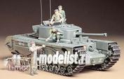35210 Tamiya 1/35 Английский тяжелый пехотный танк Mk.IV Churchill Mk.VII с 3 фигурами танкистов и 1 фигурой угощающего фермера