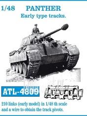 Atl-48-09 Friulmodel 1/48 Траки железные для Panther Early type tracks