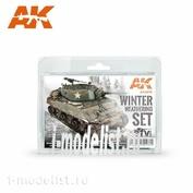 AK-4270 AK Interactive Набор WINTER WEATHERING SET (набор для создания зимних эффектов)