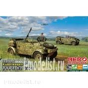 H35005 Hero Hobby 1/35 Kubelwagen Type 82 + MG34 ( 2 in 1)