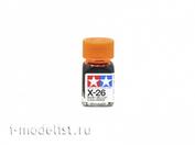 80026 Tamiya X-26 Clear Orange (Прозрачно-оранжевая) Эмалевая краска