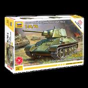 5001 Zvezda 1/72 T-34/76 tank (assembled without glue)