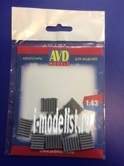 AVD143011410 AVD Models 1/43 Батарея чугунная, 10 шт.