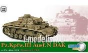 60603 Dragon 1/72 Танк PZ.KPFW.III AUSF.N DAK, S.PZ.ABT.501, Тунис 1943 год