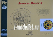 FLY72017 Fly 1/72 Avrocar Racer X DM
