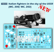 72033 ColibriDecals 1/72 Декаль для ltalian fighters in the sky of the USSR (MC. 200/ MC. 202)