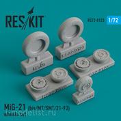 RS72-0123 RESKIT 1/72 MiG-21 (bis/MT/SMT/21-93) смоляные колеса