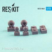 RS72-0041 RESKIT 1/72 Смоляные колеса для вертолёта
