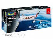 03882 Revell 1/144 АЭРОБУС A380-800 АВИАКОМПАНИИ EMIRATES В ЛИВРЕЕ UNITED FOR WILDLIFE