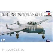 72207 Amodel 1/72 D. H. 100 Vampire Mk1