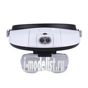 MG81001-G Очки с увеличительными линзами и подсветкой