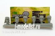 ZF35011 Zebrano 1/35 Советские головы №2
